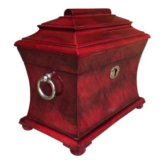 Hidden Treasures Maroon Wood Box For Sale