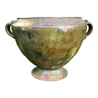Antique Guatemalan Urn/Planter With Handles For Sale