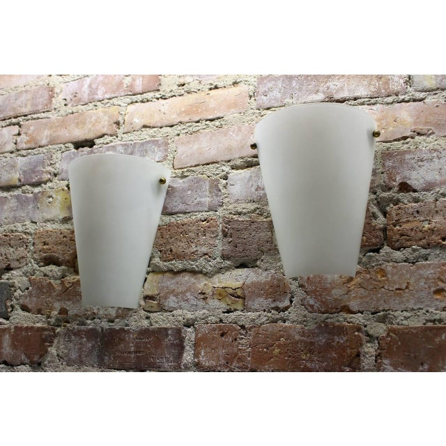 Mid-Century Modern 1950s Wall Sconces in Style of Stilnovo - a Pair For Sale - Image 3 of 5