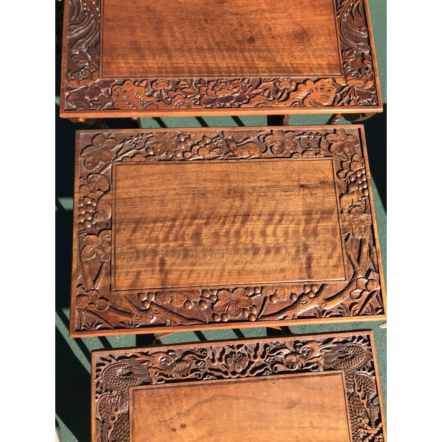 Asian Antique Nesting Tables - Set of 4 For Sale - Image 3 of 11