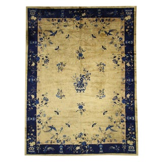 Late 19th Century Chinese Peking Rug With Chinoiserie Style, 11'00 X 14'05 For Sale