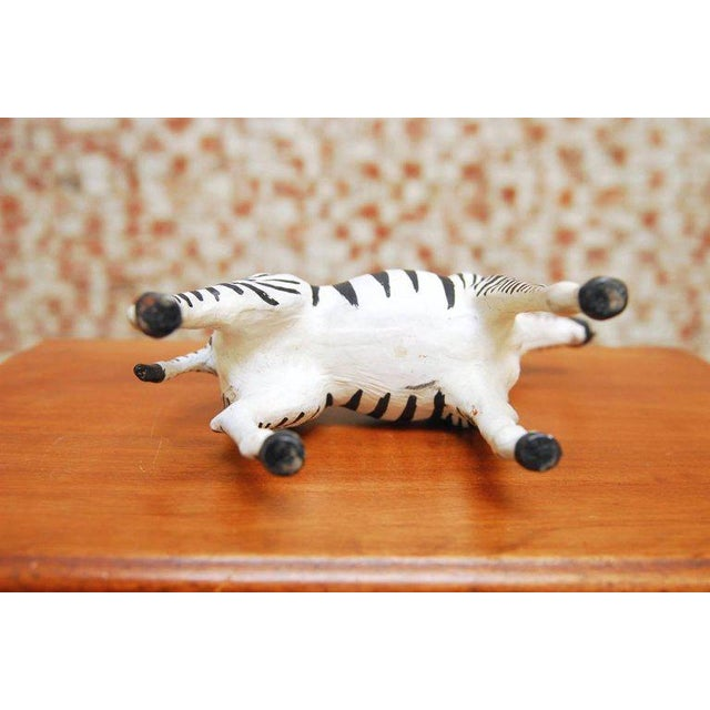Mid-Century Leather Wrapped African Zebra Sculpture - Image 6 of 7