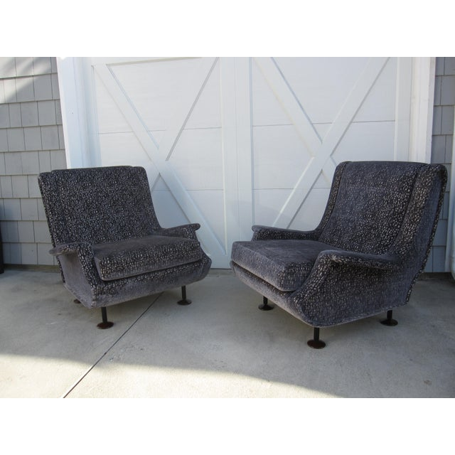 Marco Zanuso Regent Italian Lounge Chair - a Pair For Sale - Image 9 of 12