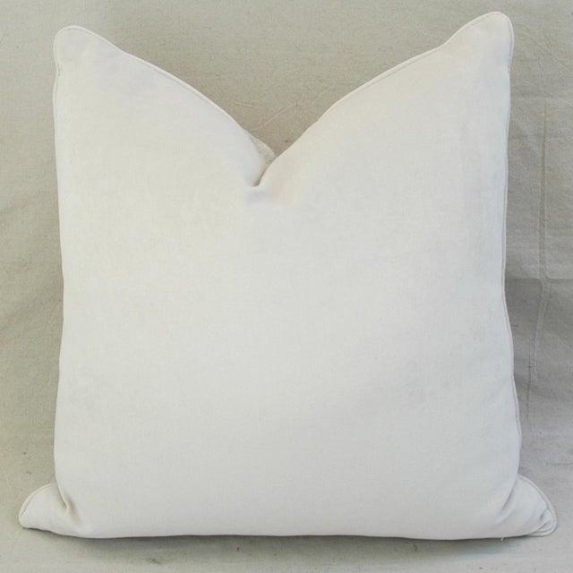 Modern Boho Chic White Crocodile Textured Velvet Pillow For Sale - Image 4 of 5