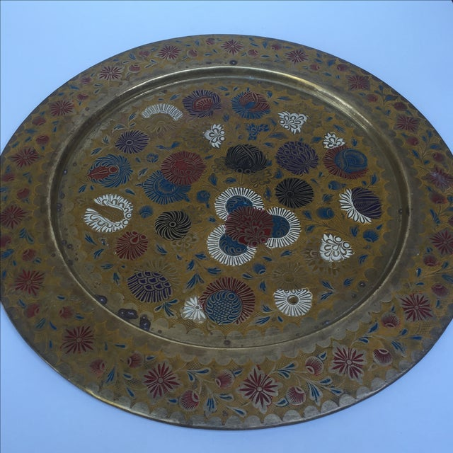 Vintage Indian Gold Plate For Sale - Image 5 of 10
