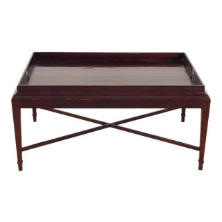 Barbara Barry for Baker Furniture Company Java Finish Tea Table For Sale