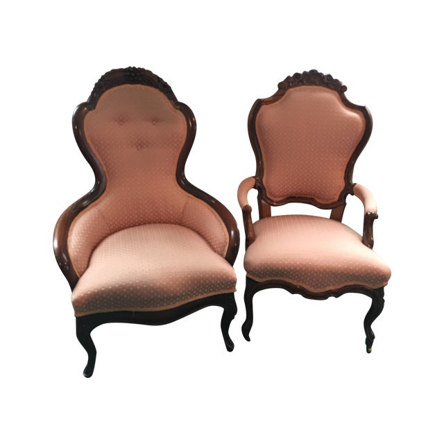 Antique Victorian Parlor Chairs - A Pair - Antique Victorian Parlor Chairs - A Pair Chairish