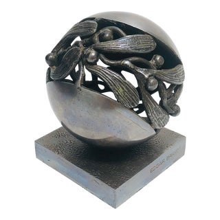 "Edgar Brandt ""Gui"" Hand Wrought Iron Paper Weight For Sale"