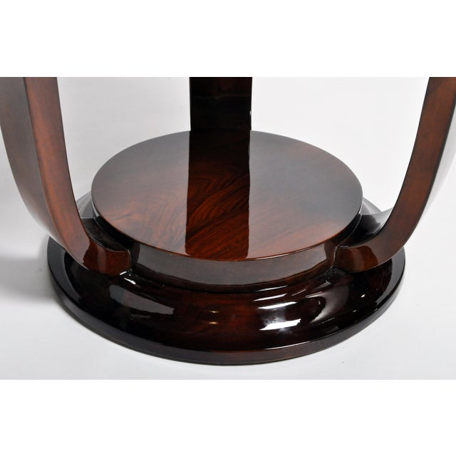 Hungarian Walnut Veneer Round Side Tables - a Pair For Sale - Image 11 of 13