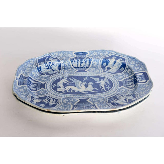 """Two Large Spode """"Greek"""" Platters, England, Early 19th Century For Sale - Image 9 of 9"""