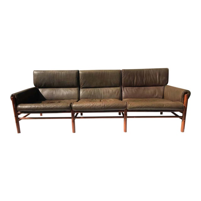 "Arne Norell Leather ""Kontiki"" Sofa For Sale"