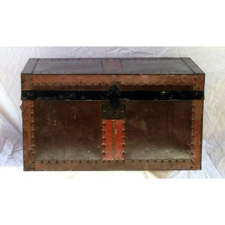 Antique Desk Trunk With Tray Preview