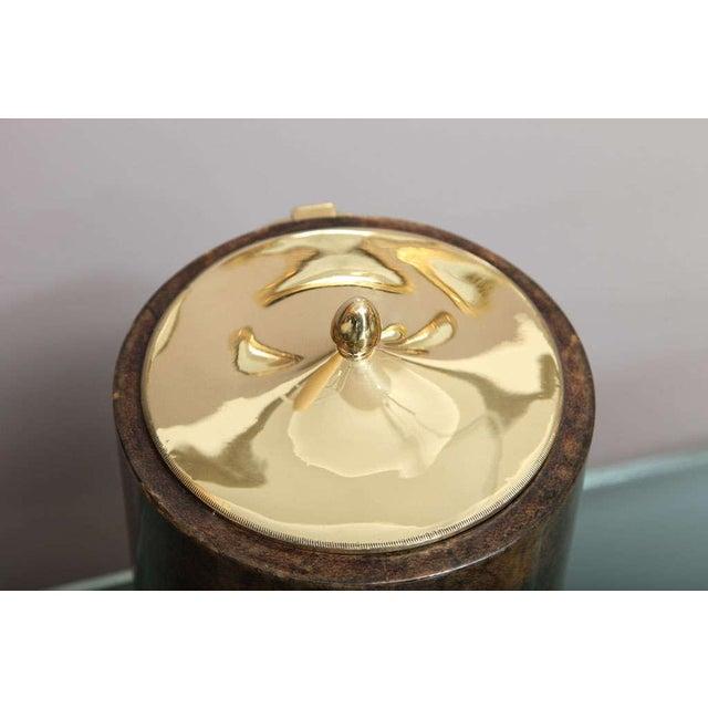 Aldo Tura Goatskin and Brass Tilted Ice Bucket - Image 8 of 9
