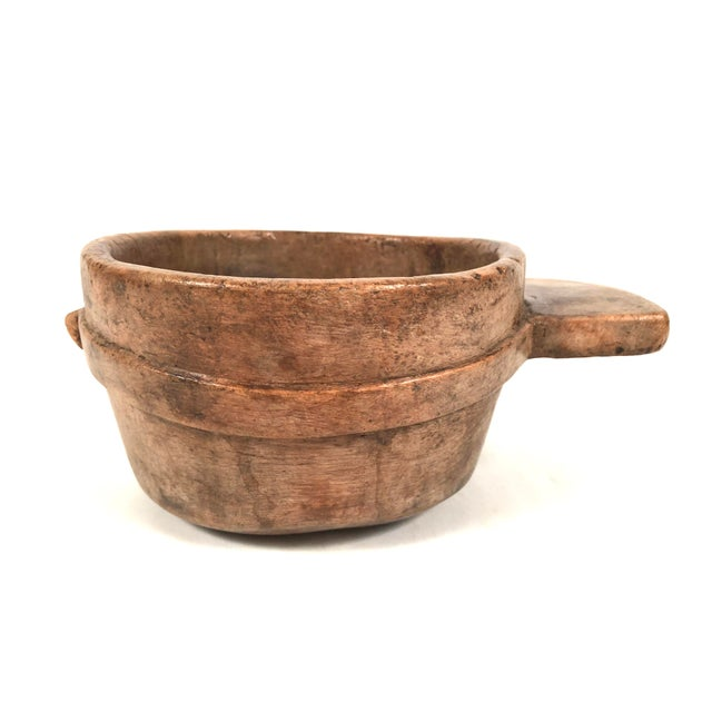 Folk Art Early Primitive Carved Wood Bowl For Sale - Image 3 of 12