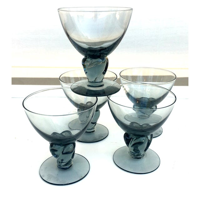 Italian Smokey Liquor Glasses - Set of 5 - Image 8 of 8
