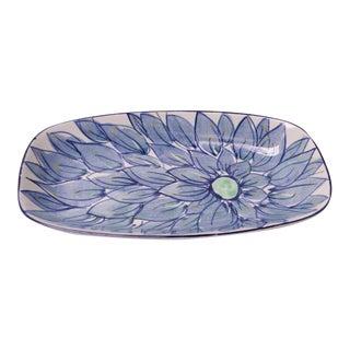 """Beth Breyen for Royal Copenhagen Fajance Porcelain """"Floral"""" Dish For Sale"""