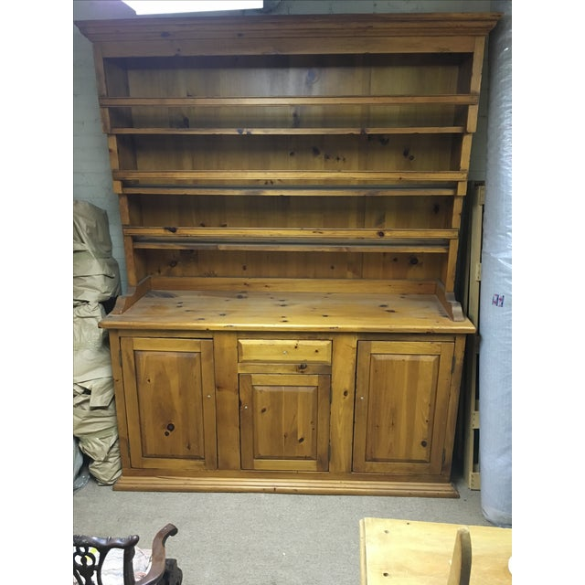 Antique Pine Welsh Kitchen Dresser & Display Hutch