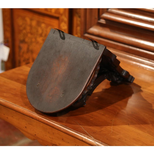 Late 19th Century 19th Century, French Louis XIV Carved Walnut and Oak Wall Bracket Console For Sale - Image 5 of 7