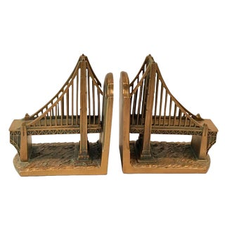 Vintage Brooklyn Bridge Bookends For Sale
