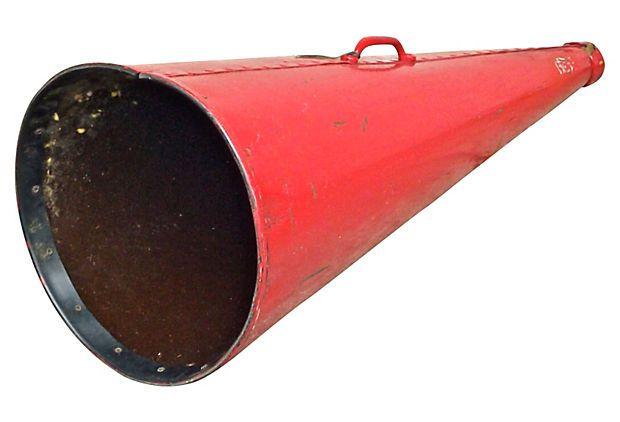 Vintage Oversize Red Bullhorn Chairish