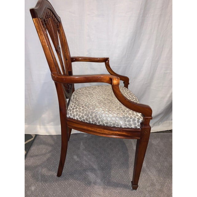 Bauhaus Hepplewhite Style Dining Chairs- Set of 10 For Sale - Image 3 of 13