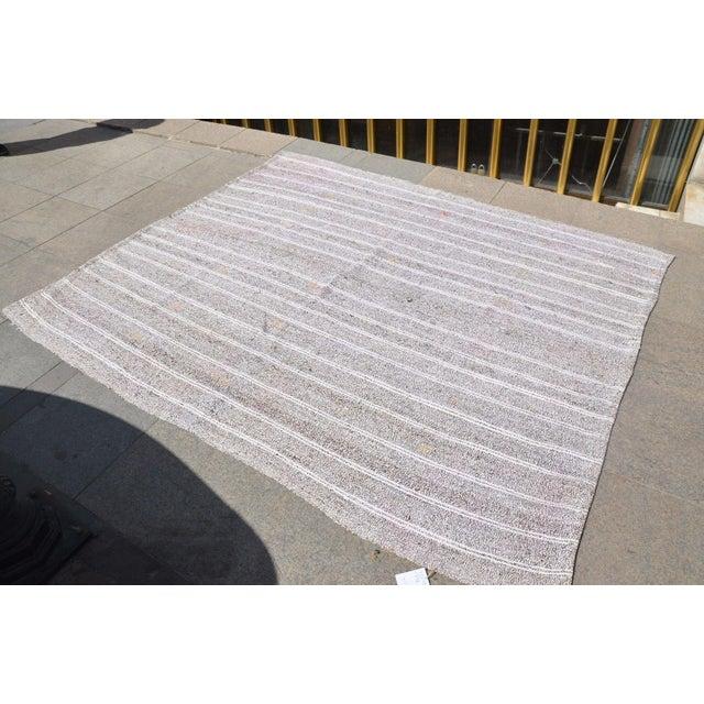 Islamic Turkish Tribal Handmade Carpet - 5′10″ × 7′2″ For Sale - Image 3 of 6