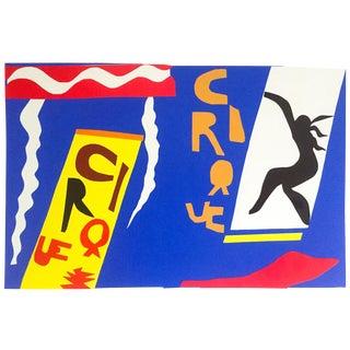 "Henri Matisse Rare Vintage 1991 Jazz Portfolio Lithograph Print "" Le Cirque / the Circus "" 1947 For Sale"