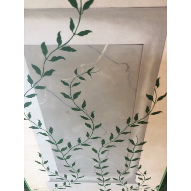 Hand-Painted and Decoupaged Garden Screens With Urn Motif - A Pair For Sale - Image 12 of 13