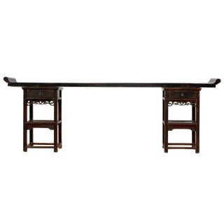 Ming Style Sarreid Ltd. Walnut Console For Sale