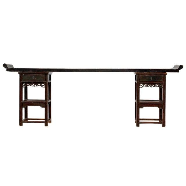 Ming Style Sarreid Ltd. Walnut Console For Sale