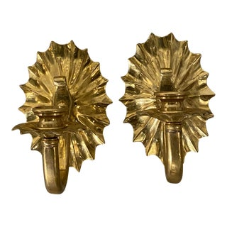 1920s Caldwell Gilt Bronze Sconces - a Pair For Sale
