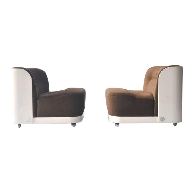 """Pair of """"Trinom"""" Lounge Chairs by Peter Maly For Sale"""