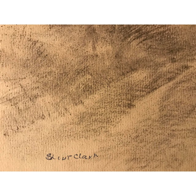 Americana Eliot Clark Bucolic Landscape Drawing For Sale - Image 3 of 4
