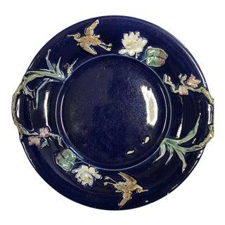 Antique Majolica Decorative Plate For Sale