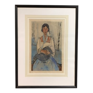 L' Italienne After Amedeo Modigliani (1875-1963), by Jacques Villon (1875-1963) For Sale