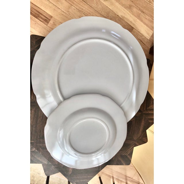 1950s Harvest Milk Glass Torte & Serving Plates by Colony - a Pair For Sale - Image 10 of 13