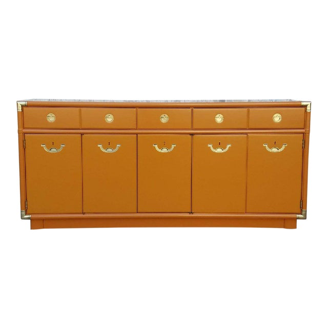 Americana Drexel Almond Credenza Buffet For Sale