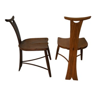 The Wishbone Dining Chairs - A Pair For Sale