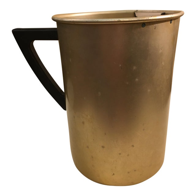 Mid-Century Gold Aluminum Pitcher For Sale