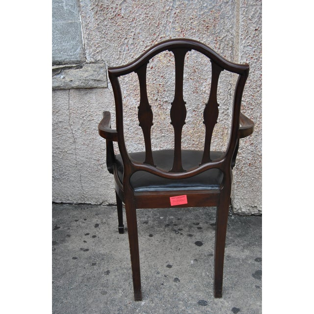Wood Mahogany English Hepplewhite Style Chairs- Set of 12 For Sale - Image 7 of 13