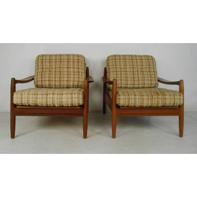 Scandinavian Modern Sofa and Chairs For Sale - Image 4 of 8