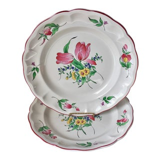 "2 K &G Luneville ""Old Strasbourg"" French Faience Platters-12"" For Sale"