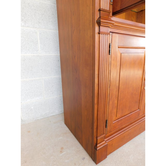 """Stickley Stickley Cherry 4 Door Bookcase Lighted Display Wall Cabinet Model 4740 """"B"""" For Sale - Image 4 of 13"""