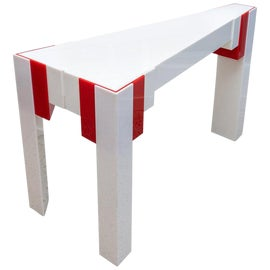 Image of Lucite Console Tables