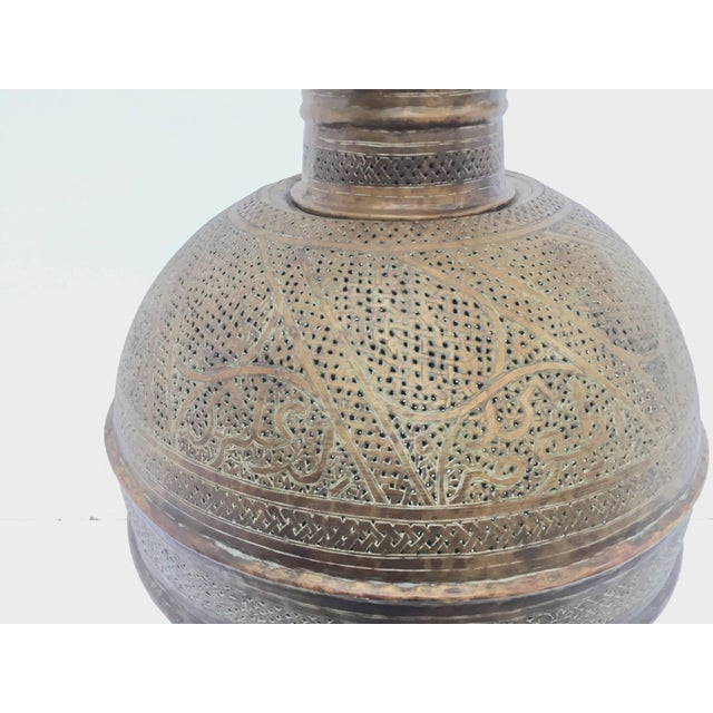 Antique 19th Century Middle Eastern Persian Oriental Brass Floor Lamp For Sale - Image 10 of 13