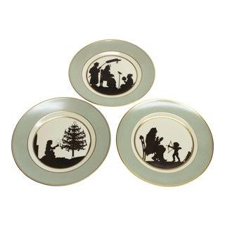 Royal Copenhagen Hans Christian Andersen Silhouette Fairy Tale Plates - Set of 3 For Sale