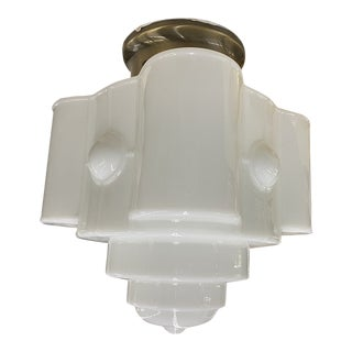 Art Deco Reproduction Flush Mount Ceiling Light For Sale