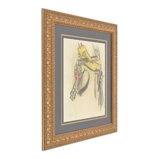 "Vintage Mid-Century Wifredo Lam ""Monte De Seves"" Lithograph Print For Sale"