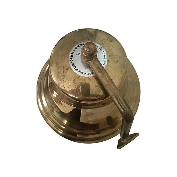 "8"" Italian Brass Ship's Bell - Image 2 of 4"