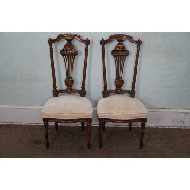 Karges Walnut French Style Walnut Dining Chair - 4 - Image 2 of 10